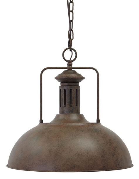 antique brown metal pendant light from l000028