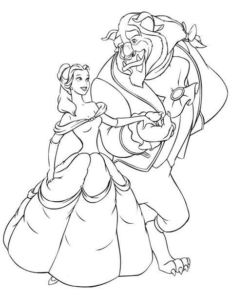 immagine la e la bestia la e la bestia da colorare disegni gratis