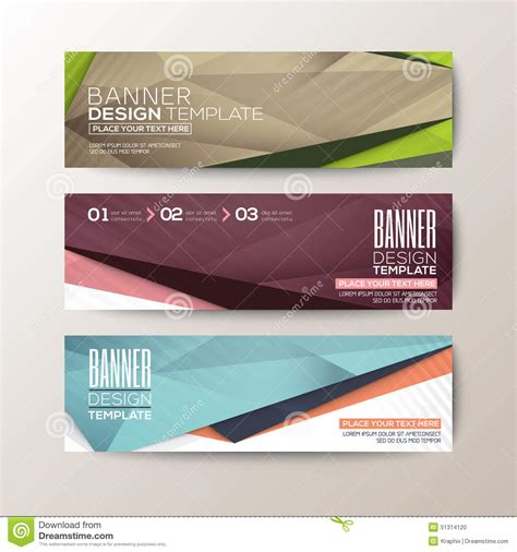 modern design elements set of modern design banners template with abstract