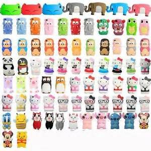 Animals silicon soft cover case for apple iphone 4 4g 4s films ebay