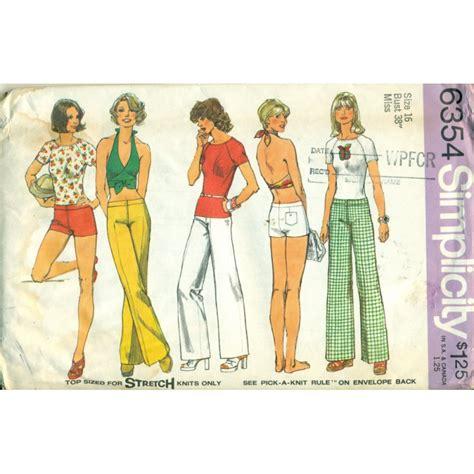 t shirt dress pattern simplicity vintage womens halter top t shirt wide leg pants sewing