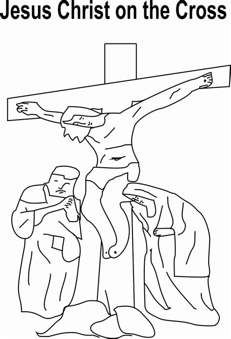 Coloring Pages Jesus On The Cross by The Gallery For Gt Jesus On The Cross Coloring Page For