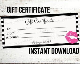 Lipsense Gift Certificate Etsy Lipsense Gift Certificate Template Free