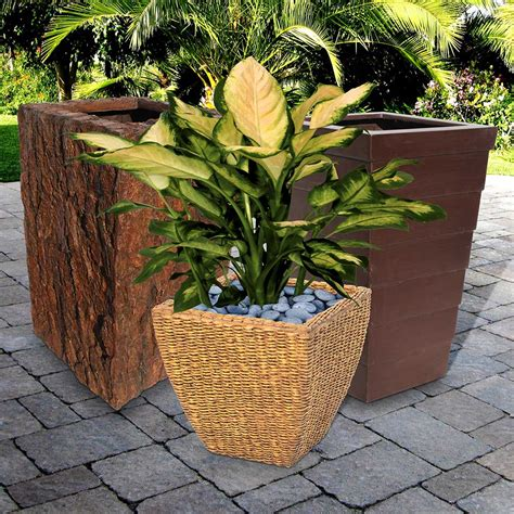 Glass Planters by Product Portfolio Glass Garden Fiberglass Planters