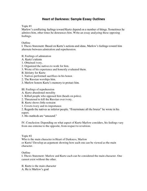 thesis outline template thesis writing outline