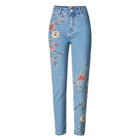 Wst 17546 Embroidered Denim Shirt embroidery american apparel pant highwaist blue for them