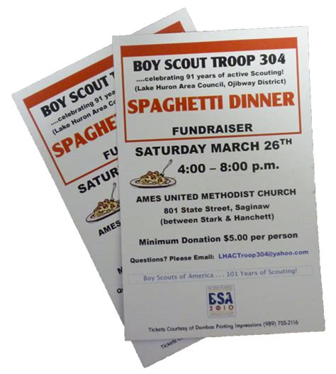 fundraiser dinner tickets template the gallery for gt spaghetti dinner fundraiser ticket