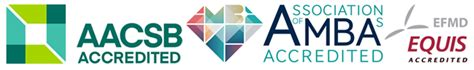 Mba Finance Aacsb by Aacsb Amba And Equis Logos