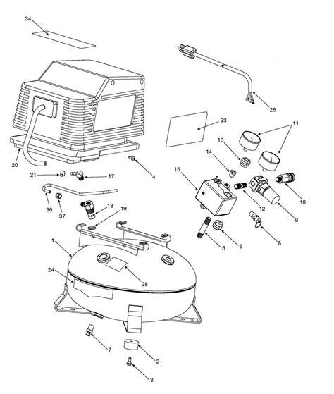 craftsman portable air compressor 919 165240 repair parts