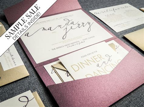 modern wedding invitations etsy