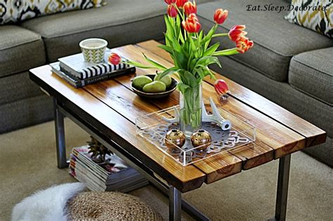 eat sleep decorate our new diy industrial coffee table