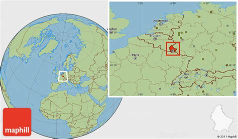 where is luxembourg on the map savanna style location map of luxembourg