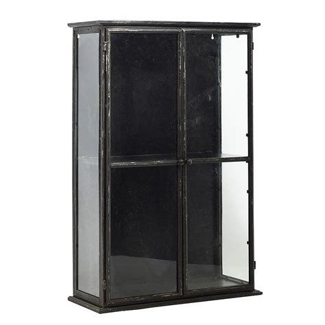 industrial style display cabinet distressed industrial glass display cabinet by out there