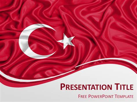 Turkey Flag Powerpoint Template Presentationgo Com Turkey Powerpoint Template