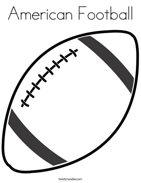 American Football Coloring Page Twisty Noodle Coloring Pages Football
