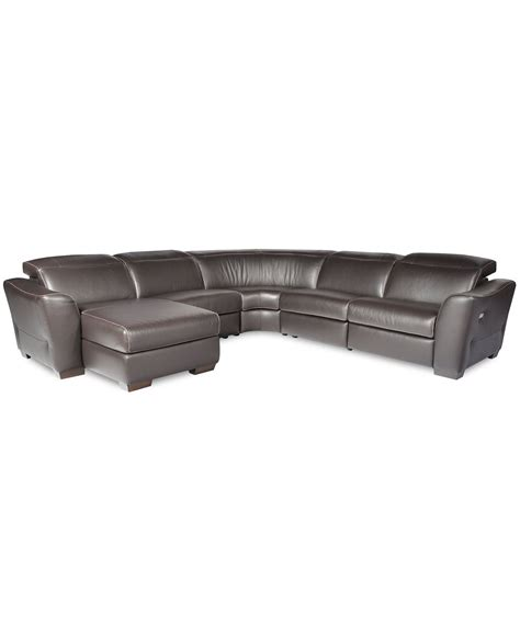 garrison 2 pc leather sectional sofa alessandro 5 pc leather sectional sofa with chaise and 1