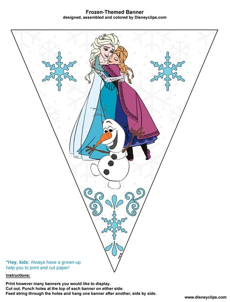 printable frozen banner 7 best images of disney frozen party printables bookmarks