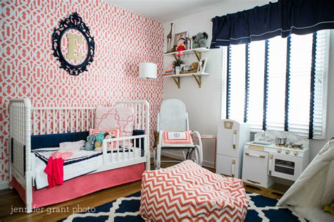 Coral And Navy Nursery by Rooms And Parties We Love This Week Project Nursery
