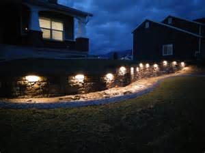 Landscape Wall Lights Led Hardscape Light 6 Quot Deck Step And Landscape Retaining Wall Light With Mortar Mounting