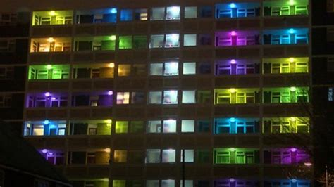 coloured lights hull housing estate gets lit up for city of culture news