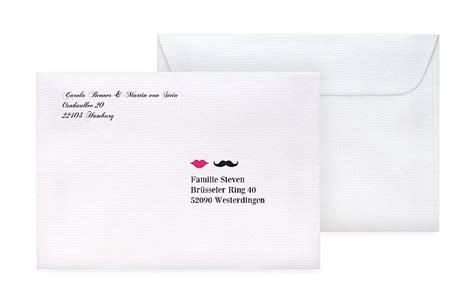 Hochzeitseinladung Umschlag Beschriften by Umschl 228 Ge Mit Adressaufdruck F 252 R Hochzeitskarten