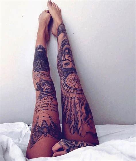 womens leg tattoo pin by on tattoos i