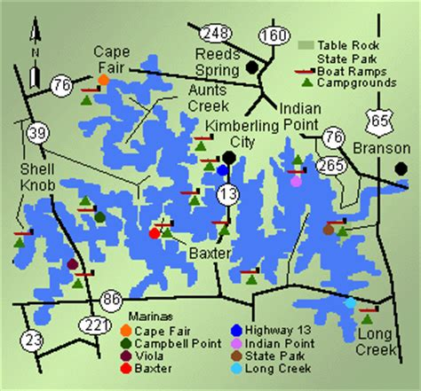 table rock lake map missouri fishing guide fishing missouri guide table rock lake