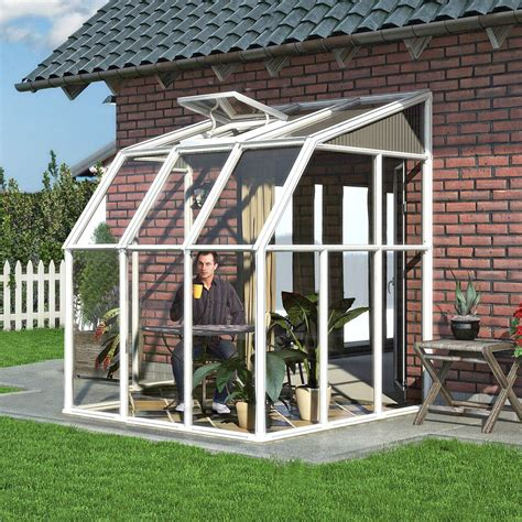 Small Sun Rooms Palram White Sun Room What Shed