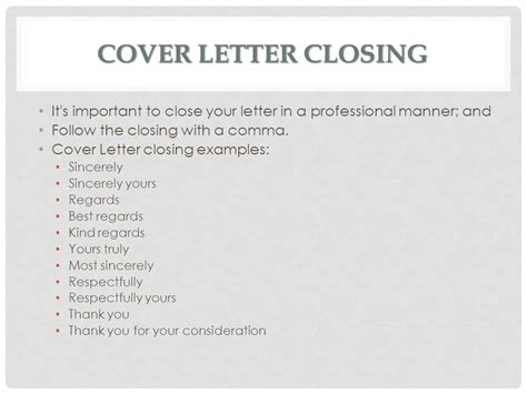 fantastic strong closing statements for cover letters with