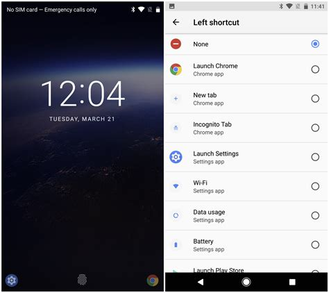android features android o feature spotlight custom shortcuts can now be added to the lockscreen via system ui tuner