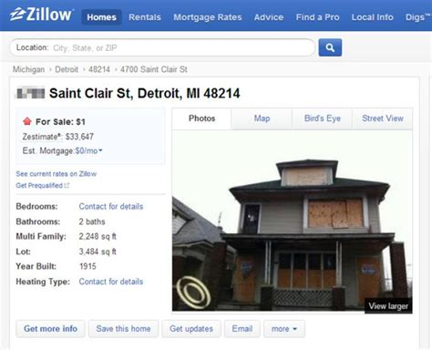 house for 1 dollar 1 can buy a house in detroit ny daily news