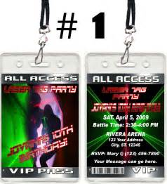 laser tag ticket vip birthday invitations and favors ebay
