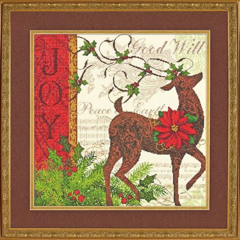 cross stitch kits dimensions winter reindeer gold collection counted cross stitch kit new ebay