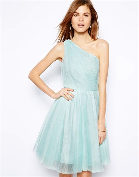 Dress Poppi Green lyst coast poppy dress with skirt in blue