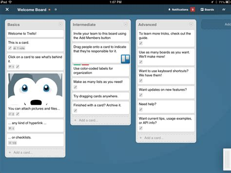 Trello Template Card by Catching Up With Trello Tidbits