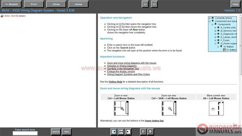 bmw wiring diagram system wds v1 03 2004 auto repair