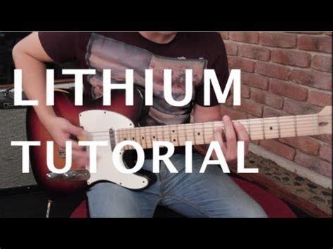 youtube tutorial nirvana como tocar quot lithium quot de nirvana tutorial guitarra hd