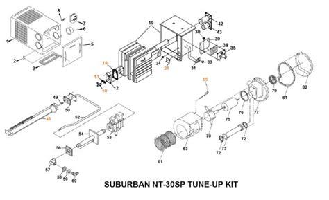 suburban furnace parts diagram suburban furnace model nt 30sp parts pdxrvwholesale