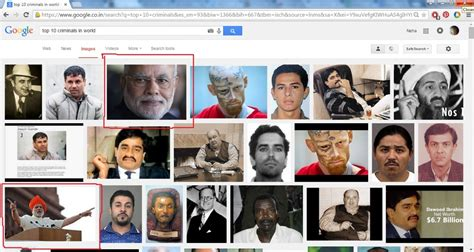 What Search The Most Top10criminals Image Search Throws Up Pm Modi Unleashes Verbal Spat On