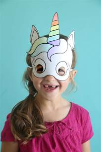 unicorn masks to print and color free printable it s