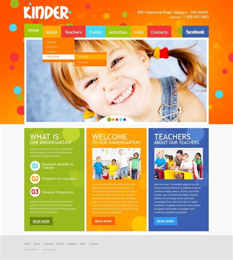 Kids Center Website Template 35142 Playgroup Website Templates