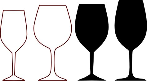 wine glass template wine glasses silhouette clip vector clip