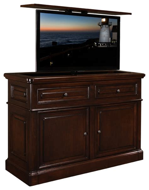 hidden tv lift cabinet traditional bedroom new york hidden tv sideboard deptis com gt inspirierendes design