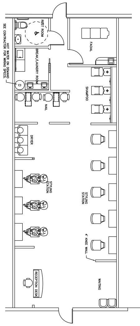 salon office layout beauty salon floor plan design layout 1400 square foot