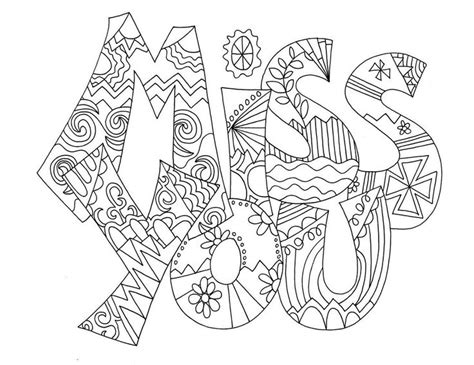 Miss U Coloring Pages by Miss U Card Coloring Coloring Pages