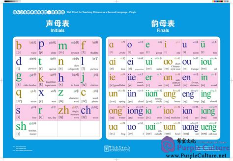 Multifunctional Table wall chart for teaching chinese as a second language