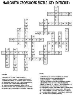 conduction coloring page crossword answer key halloween crossword puzzles to print halloween crossword