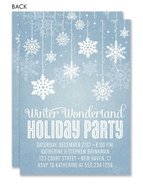 winter invitations templates best 25 invitations ideas on