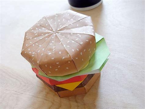 How To Make Food Out Of Paper - how to make an origami burger serious eats