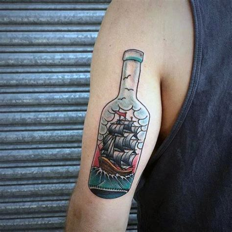 small ship tattoos 60 ship in a bottle designs for maritime